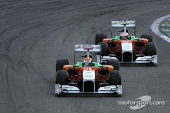 Adrian Sutil, Force India and Paul di Resta, Force India F1 Team