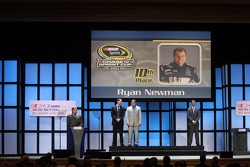 Ryan Newman, Kyle Busch and Kurt Busch