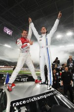Winner Sébastien Ogier and Tom Kristensen