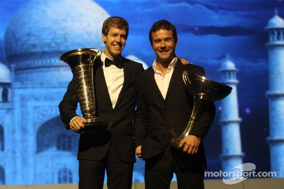 F1 champion Sebastian Vettel and WRC champion Sébastien Loeb