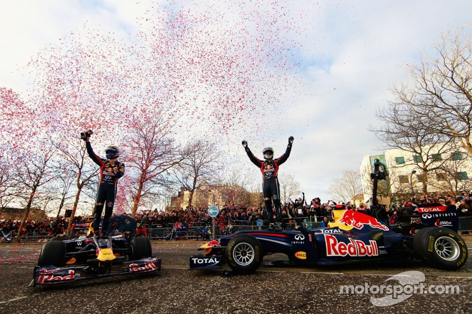 Mark Webber and Sebastian Vettel, Red Bull Racing