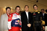 Eric Besson, French Industry Minister, with Romain Grosjean and Sbastien Loeb