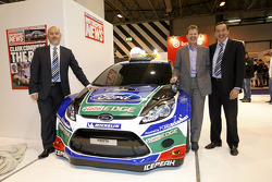 Malcolm Wilson and Gerard Quinn unveil the 2012 Ford Fiesta RS WRC livery