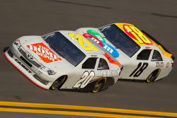 Joey Logano, Joe Gibbs Racing Toyota and Kyle Busch, Joe Gibbs Racing Toyota