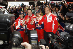 Winners Sébastien Loeb and Daniel Elena, Citroën DS3 WRC, Citroën Total World Rally Team