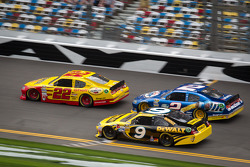 A.J. Allmendinger, Penske Racing Dodge, Brad Keselowski, Penske Racing Dodge, Marcos Ambrose, Petty Motorsport Ford