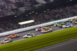 Martin Truex Jr., Michael Waltrip Racing Toyota leads the field