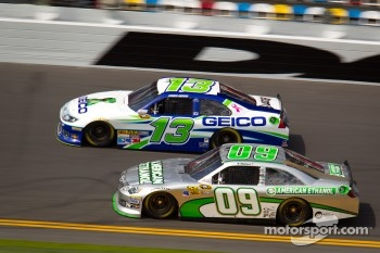Casey Mears, Germain Racing Ford, Kenny Wallace, RAB Racing Toyota