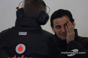 Pedro de la Rosa, HRT Formula One Team with Martin Whitmarsh, McLaren, Chief Executive Officer