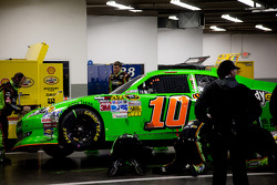 Car of Danica Patrick, Stewart-Haas Racing Chevrolet in the garage