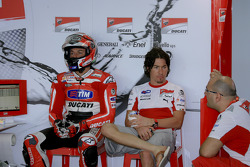 Franco Battaini and Nicky Hayden, Ducati Marlboro Team