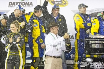 Victory lane: Jack Roush celebrates