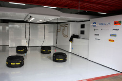 HRT Formula One Team garage
