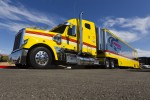 The hauler of A.J. Allmendinger, Penske Racing Dodge