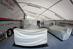 Audi Sport paddock area