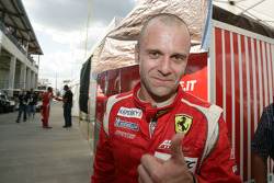 Gianmaria Bruni celebrates GTE-Pro pole