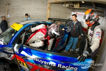 Drivers change practice for Cyndie Allemann and Akihiro Tsuzuki