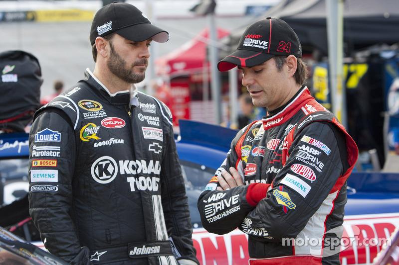 Jimmie Johnson and Jeff Gordon, Hendricks Motorsports Chevrolet