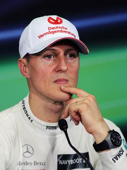 Michael Schumacher, Mercedes GP in the FIA Press Conference