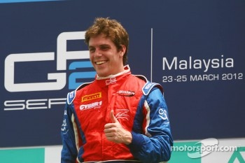 Race winner Luiz Razia