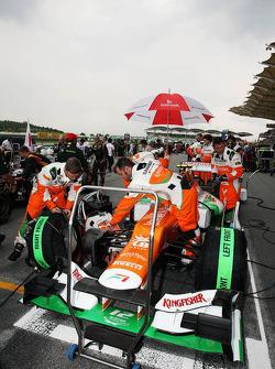 Sahara Force India F1 of Nico Hulkenberg, Sahara Force India F1 on the grid