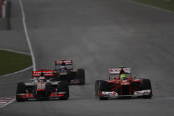 Jenson Button, McLaren Mercedes and Felipe Massa, Scuderia Ferrari