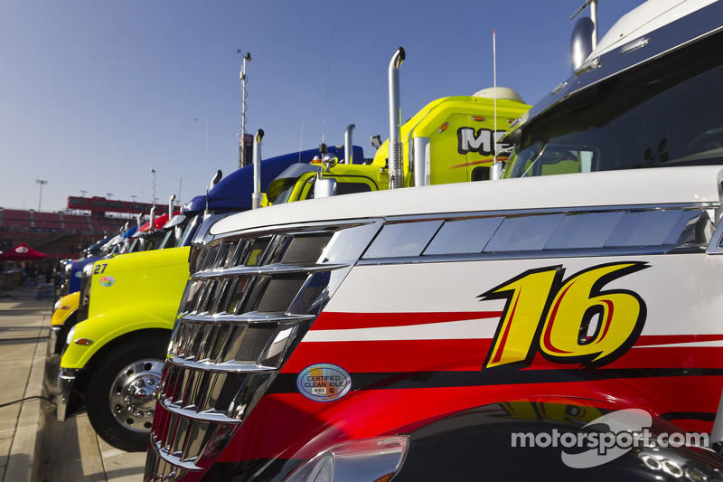 The haulers lined up