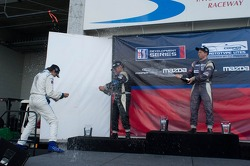 Race #2 L1 Class Podium: Tristan Nunez, Daniel Goldburg,  Mikhail Goikhberg