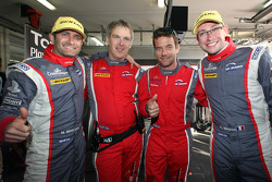 Second place finishers Nicolas Minassian and Nicolas Marroc with team owner Sébastien Loeb