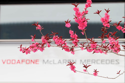 Flowers and the McLaren logo