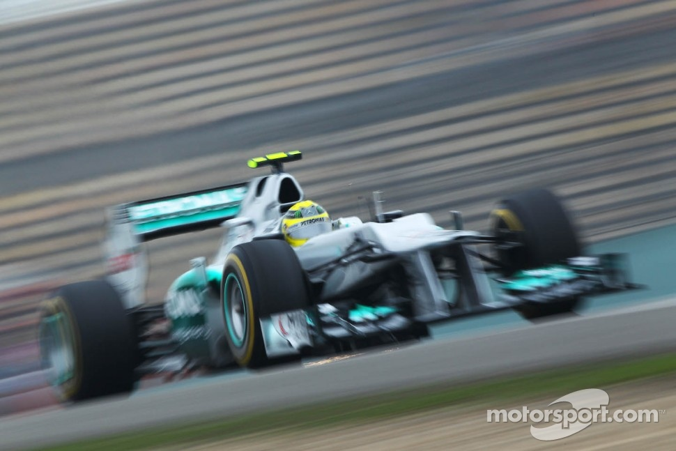 Nico Rosberg, Mercedes AMG F1 with sparks flying
