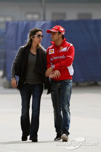 Felipe Massa, Scuderia Ferrari with his wife Rafaela Bassi