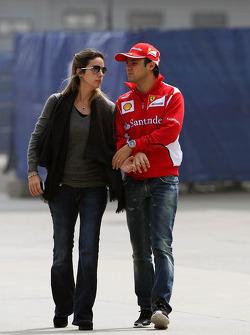 Felipe Massa, Scuderia Ferrari with his wife Rafaela Bassi