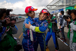 GT500 pole winners Yuji Tachikawa and Kohei Hirate