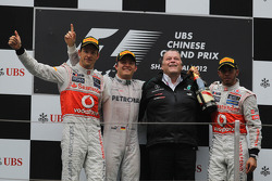2nd place Jenson Button, Mercedes AMG Petronas, Norbert Haug, Mercedes