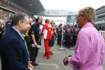 Jean Todt, FIA President with Eddie Jordan, BBC Television Pundit