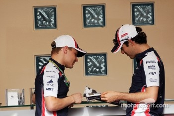 Valtteri Bottas, Williams Third Driver with Bruno Senna, Williams