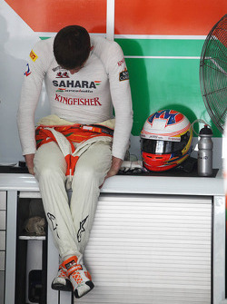 Paul di Resta, Sahara Force India F1 in the pits