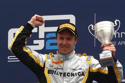 Podium: race winner Davide Valsecchi