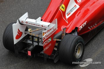 Fernando Alonso, Scuderia Ferrari rear wing and exhaust