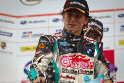 GT300 podium: winner Nobuteru Taniguchi