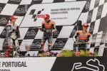 Podium: winner Casey Stoner, Repsol Honda Team, second place Jorge Lorenzo, Yamaha Factory Team, third place Dani Pedrosa, Repsol Honda Team
