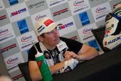 Roger Hayden in post-race press conference