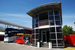 Marussia F1 Team motorhome