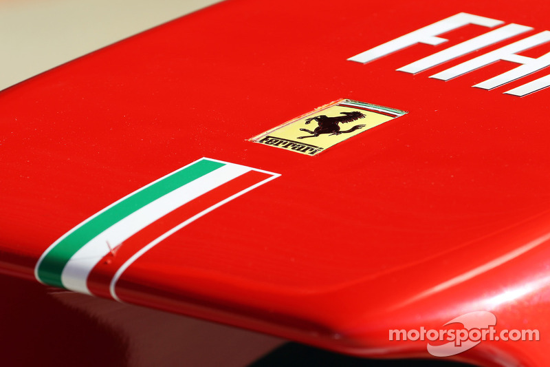 Ferrari logo on the Ferrari nosecone