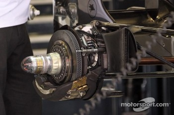 Device on the Jenson Button, McLaren Mercedes rear brakes