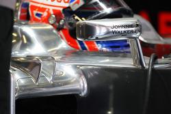 Jenson Button, McLaren sidepod winglet detail