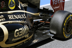 Lotus F1 exhaust and rear suspension detail