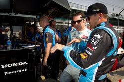 Townsend Bell, Sam Schmidt Motorsports Honda and Simon Pagenaud, Schmidt/Hamilton Motorsports Honda