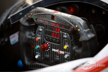 Steering wheel of Will Power, Verizon Team Penske Chevrolet